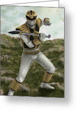 The White Ranger Greeting Card by Michael Tiscareno