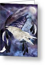 The White Raven Greeting Card by Carol Cavalaris