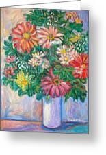 The White Vase Greeting Card by Kendall Kessler