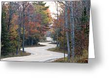 The Winding Road Greeting Card by Jim Baker