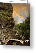 The Winding Trail Greeting Card by Jessica Jenney