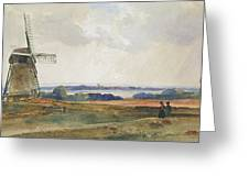 The Windmill Greeting Card by Peter de Wint