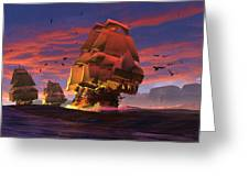 The Winds Of Triton Greeting Card by Dieter Carlton
