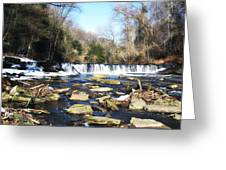 The Wissahickon Creek In February Greeting Card by Bill Cannon