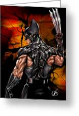 The Wolverine Greeting Card by Pete Tapang