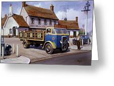 The Woodman Pub. Greeting Card by Mike  Jeffries