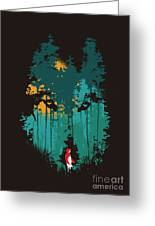 The Woods Belong To Me Greeting Card by Budi Kwan