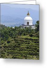 The World Peace Pagoda Pokhara Greeting Card by Robert Preston