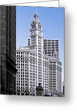 The Wrigley - A Building That Is Pure Chicago Greeting Card by Christine Till