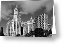 The Wrigley Building Chicago Greeting Card by Christine Till