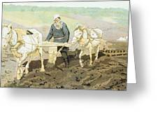 The Writer Lev Nikolaevich Tolstoy Greeting Card by Ilya Efimovich Repin