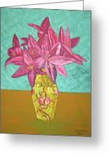The Yellow Vase Greeting Card by John Keaton