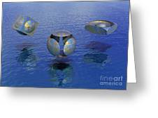 Then There Were Three - Surrealism Greeting Card by Sipo Liimatainen