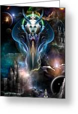 Thera Queen Of The Galaxy Greeting Card by Rolando Burbon