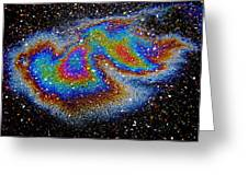 Thermal Flow Greeting Card by Samuel Sheats