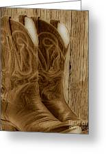 These Boots Were Made For Greeting Card by Cheryl Young