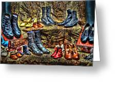 These Shoes Are Made For Walking Greeting Card by Arnie Goldstein