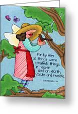 Things Visible And Invisible Greeting Card by Sarah Batalka