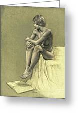 Thinking Greeting Card by Dirk Dzimirsky