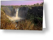 This Is Zimbabwe No.  1 - Thundering Victoria Falls Greeting Card by Paul W Sharpe Aka Wizard of Wonders