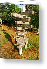 A Sign In Lancaster Greeting Card by Joseph C Hinson Photography