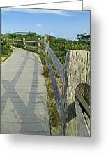This Way To The Beach Greeting Card by Barbara McDevitt