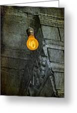 Thomas Edison Lightbulb Greeting Card by Susan Candelario