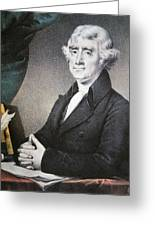 Thomas Jefferson Greeting Card by Nathaniel Currier
