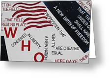 Those Who Gave Their Lives Greeting Card by Lawrence  Dugan