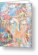 Thoughts Greeting Card by Chaline Ouellet