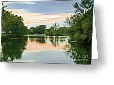 Thousand Trails Horseshoe Lake Greeting Card by Bob and Nadine Johnston