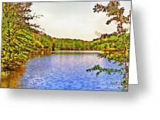Thousand Trails Preserve Natchez Lake  Greeting Card by Bob and Nadine Johnston