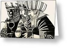 Three Kings Greeting Card by Richard Hook