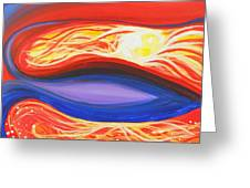 Three Mountains Under One Sun Panel Number One Greeting Card by David Keenan