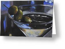 Three Olive Martini Greeting Card by Donna Tuten
