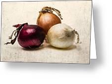 Three Onions - 1 Greeting Card by Alexander Senin
