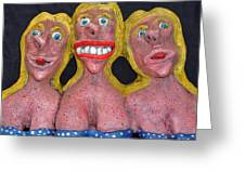 Three Sisters Greeting Card by Charles Spillar