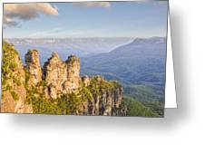 Three Sisters Katoomba Australia Greeting Card by Colin and Linda McKie