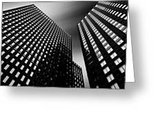 Three Towers Greeting Card by Dave Bowman