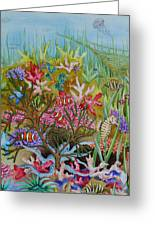 Thriving Ocean -sunken Ship Greeting Card by Katherine Young-Beck