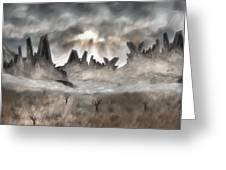 Through The Mist Greeting Card by Jack Zulli