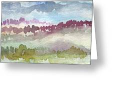 Through The Trees Greeting Card by Linda Woods