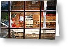 Through The Window Greeting Card by Marty Koch