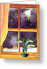 Through The Window Greeting Card by Patricia Griffin Brett