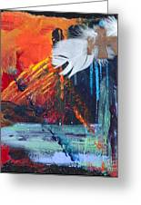 Thunder Bird Abstract Greeting Card by Tracy L Teeter