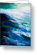 Thunder Tide Greeting Card by Larry Martin