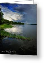 Thunderstorm On The Water Greeting Card by Bonita Moore