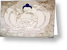 Tibet Buddha Greeting Card by Kate McKenna