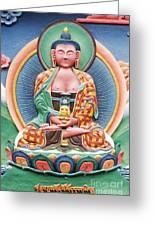 Tibetan Buddhist Deity Sculpture Greeting Card by Tim Gainey