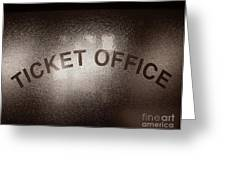 Ticket Office Window Greeting Card by Olivier Le Queinec